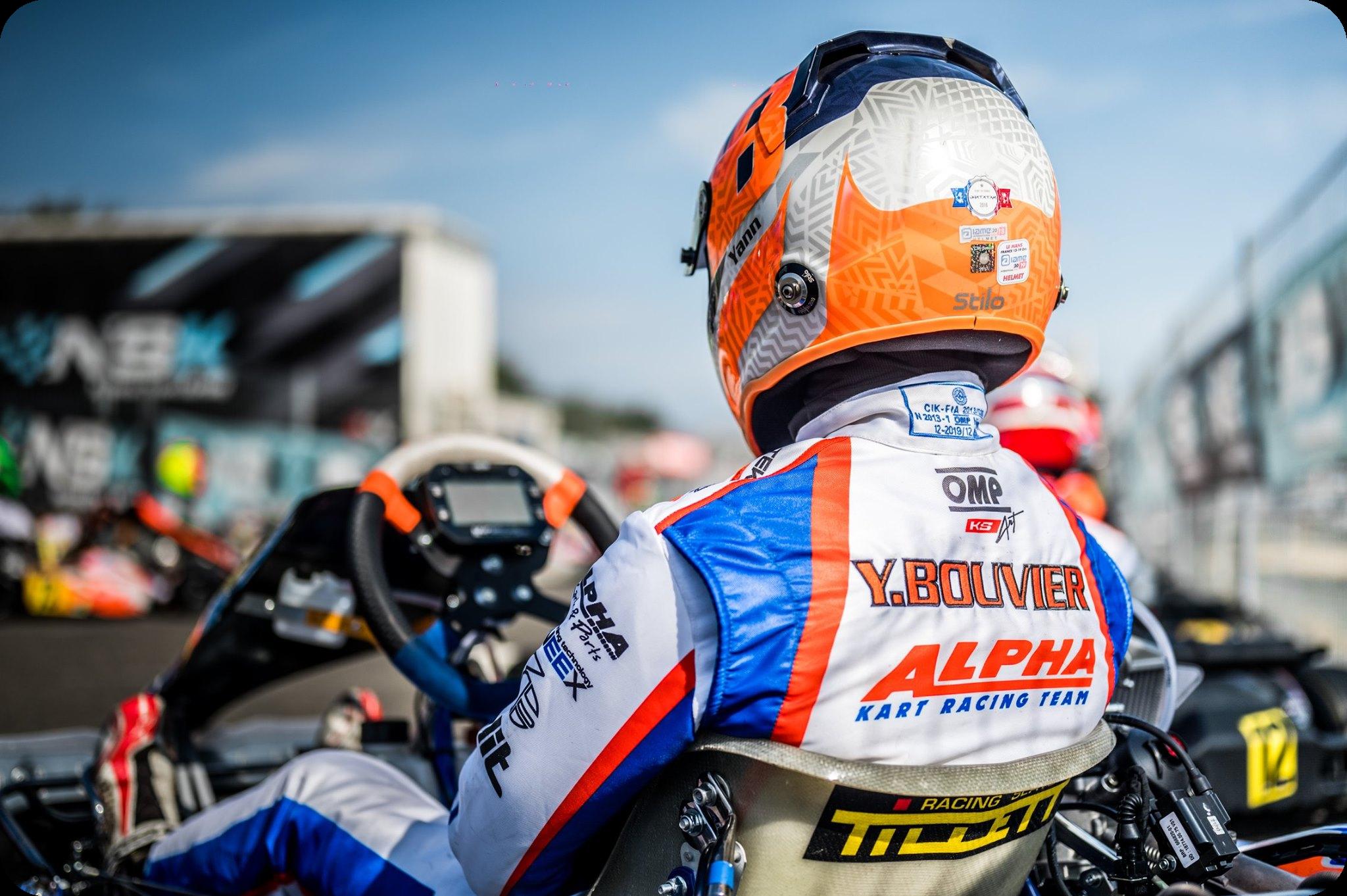 Yann bouvier pilote alpha karting
